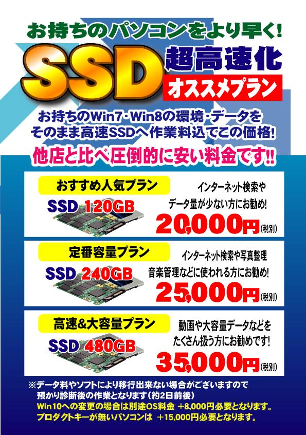 SSD搭載モデル