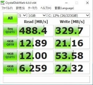 SSD PLUS SDSSDA-240G-J26の応答速度
